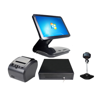 15.6 inch touch screen POS System for retailers all in one cash drawer printer J1900 ComPOSxb POS Machine
