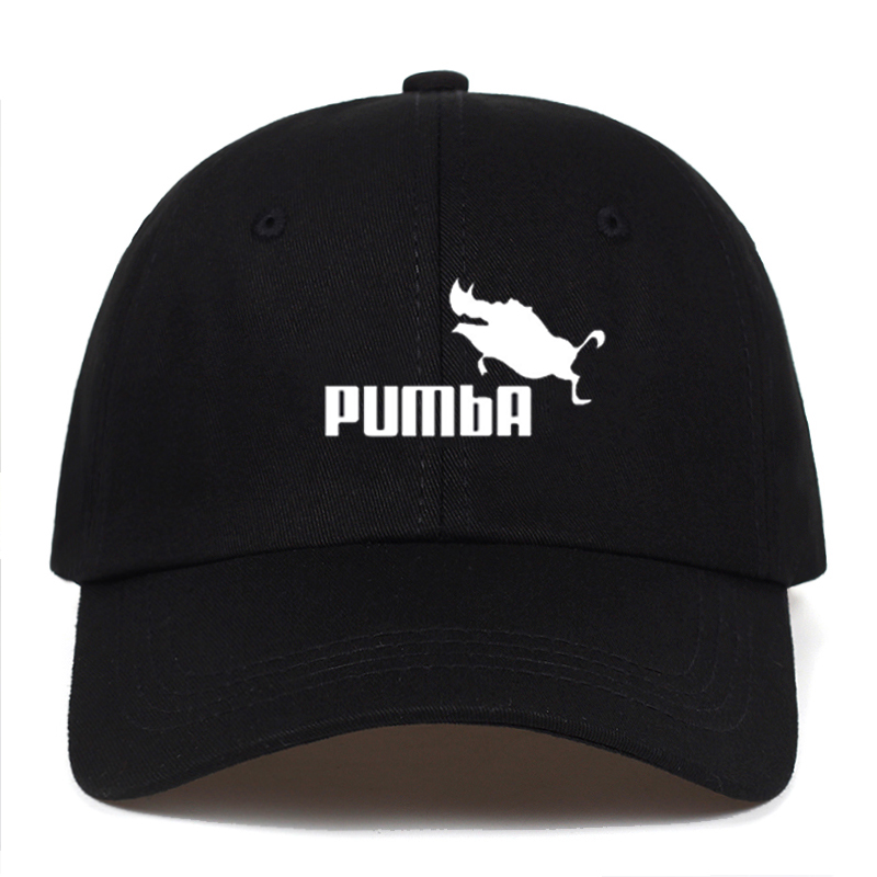 Men And Women Homme Pumba Baseball Caps Casual Letter Embroidery Cartoon Dad Hat Summer Adjustable Cotton Cap Hats