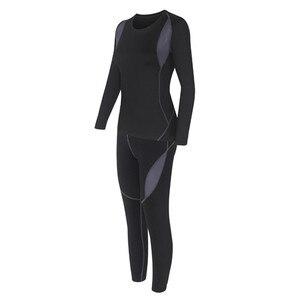 Image 5 - Two Piece Set Women Warm Winter Thermal Plush Velvet Thermal Clothing Hot Dry Technology Matching Sets Conjuntos De Mujer