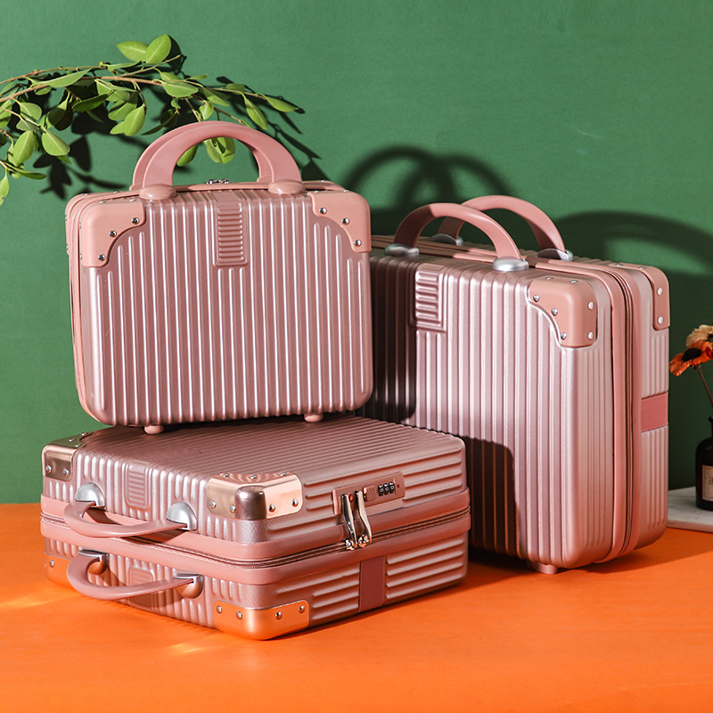 High Quality Pink Sweet Color 14 16 inches Luggage On Hot Sales Solid Color Small Suitcase Travel Luggage Can on Plane
