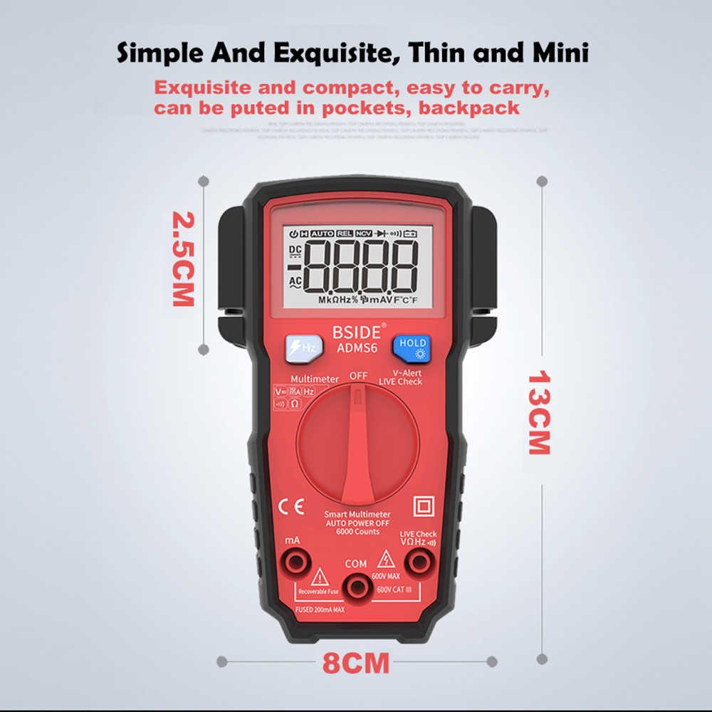 مقياس رقمي مصغر متعدد ADM S6 نطاق تلقائي حقيقي RMS DMM تيار مستمر/تيار متردد الجهد الحالي السعة السعة اختبار ديود أوم