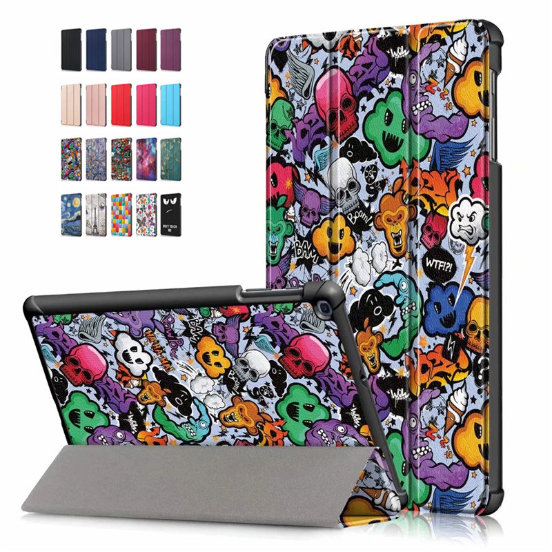 PU Leather Case For Samsung Galaxy Tab A 10.1 2019,Ultra Slim Magnetic T510 T515 Stand Cover