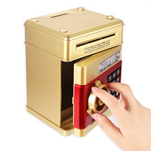 Electronic Piggy Bank Safe Box Money Boxes Toys Children Digital Coins Cash Saving Safe Deposit Mini ATM Machine Kid Xmas Gifts