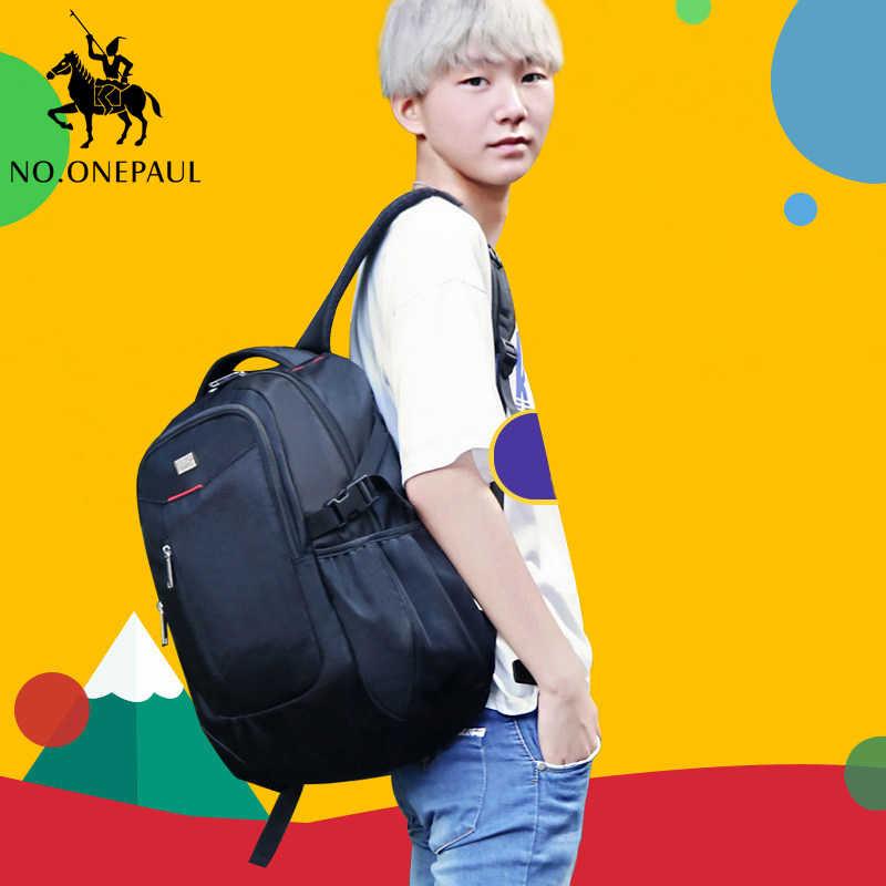 NO. Mochila de un solo color para hombre, mochila de viaje para montañismo al aire libre, mochila para ordenador portátil de moda, bolsa de gran capacidad, bolsas para hombres