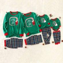 Рождественская Пижама семейный образ рождественские пижамы детский