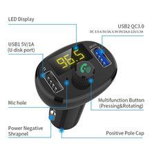 Car Kit QC3.0 USB Charger Music Radio Bluetooth Receiver FM Transmitter Modulator Handsfree MP3 Player недорого