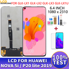 "6.4 ""LCD için Huawei Nova 5i LCD ekran GLK LX1 LX2 LX3 dokunmatik ekran paneli sayısallaştırıcı meclisi P20 Lite 2019 ekran yerine"