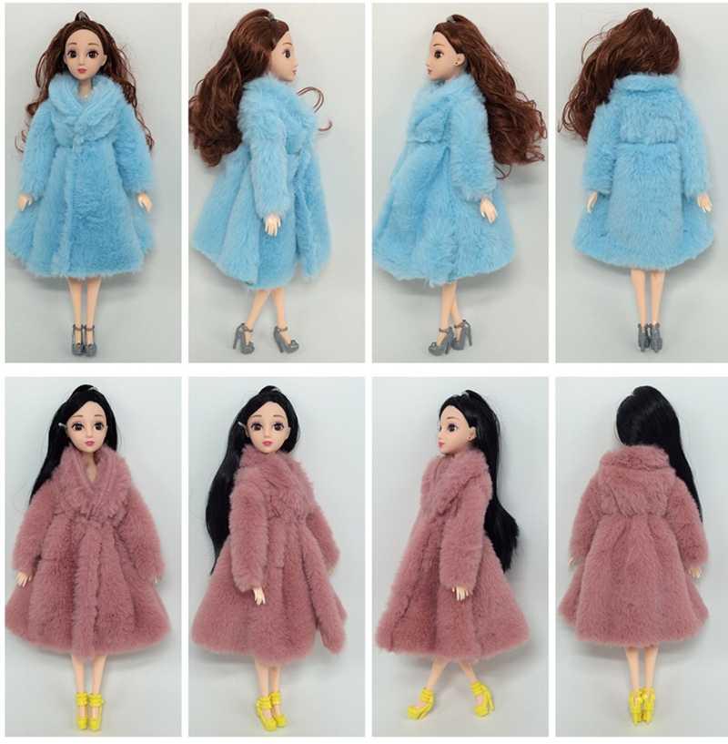 人形アクセサリー人形の服衣類コート女の子の冬服暖かい毛皮のコートドレスの服 1/6 BJD SD 豪華なコート子供女の子のおもちゃ