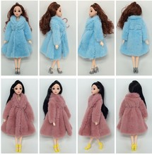 Doll Accessories Doll Clothes Clothing Coat Girl Winter Wear Warm Fur Coat Dress Clothes for 1/6 BJD SD Plush Coat Kids Girl Toy(China)