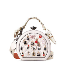 2020 Vintage Retro Metal Rivet Box Handbags Mini Cube Brand