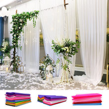 48/72cm 10 Meters Tulle Roll Organza Fabric Wedding Table Decoration DIY Tutu Flowers Baby Shower Supplies Marriage Romm Decor(China)