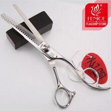 Fenice 6 inch dog grooming scissors pet professional thinning shears makas tijeras
