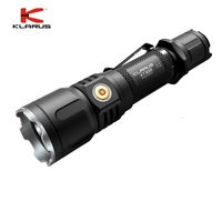 KLARUS XT12S CREE XPH35 HI D4 1600LM Beam Throw 402 Meter Rechargeable Led Flashlight LED Outdoor Torch + 3600mAh Battery