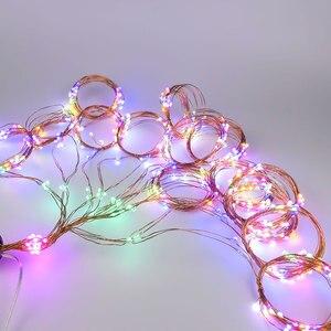 Image 2 - 8 modu şelale peri ışıkları 15/20/30 teller demet dize ışıkları fiş Firefly düğün çelengi bitkiler ağacı parti dekor