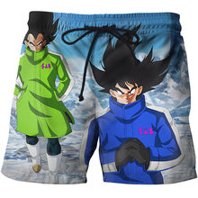 Anime Dragon Ball Printed Swiming Shorts Men Summer Funny Saiyan Design Beach Shorts For Male Short Sport Homme(China)