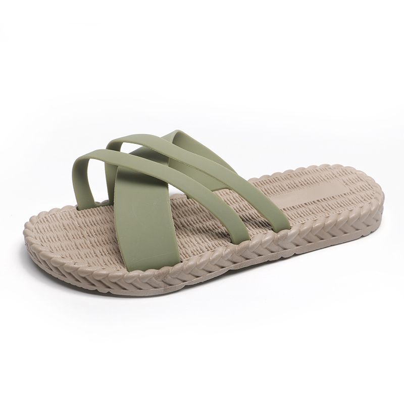 Summer Beach Woman Flip Flops Valentine Slippers PVC Slides Female Sandals Slip on Flat Home Women Bathroom Slippers Jelly Shoes