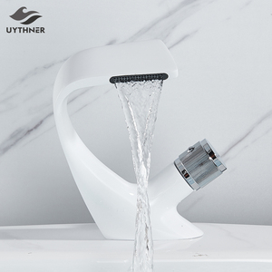 Basin Faucets Bath Basin Mixer Faucet Creative Waterfall Water Outlet Bathroom Vessel Sink Mixer Taps Hot and Cold Water Mixer(China)