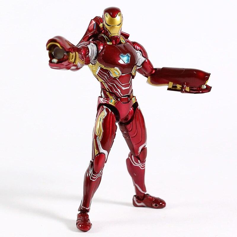 Avengers Endgame Iron Man MK50 Nano Weapon Set PVC Action Figure Collectible Model Toy 2 Styles