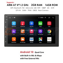 Android 10 2 Din Xe Ô Tô Đài Phát Thanh Đa Phương Tiện Video Đa Năng Tự Động Stereo Bản Đồ GPS Xe Volkswagen Nissan Hyundai Kia Toyota CR V