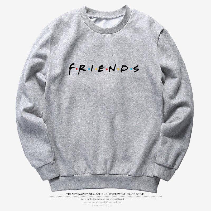 Vintage Letter Print Long Sleeve FRIENDS TV Casual Women's Sweatshirts Winter FRIENDS Print Loose Hoodies Fashion Womens Shirts 3