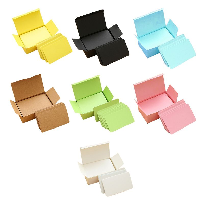 100 Memory Cards Blank DIY Graffiti Word Cards Net Small Memo Pad Blocks Memorandum Note Blank Word Cards L29k