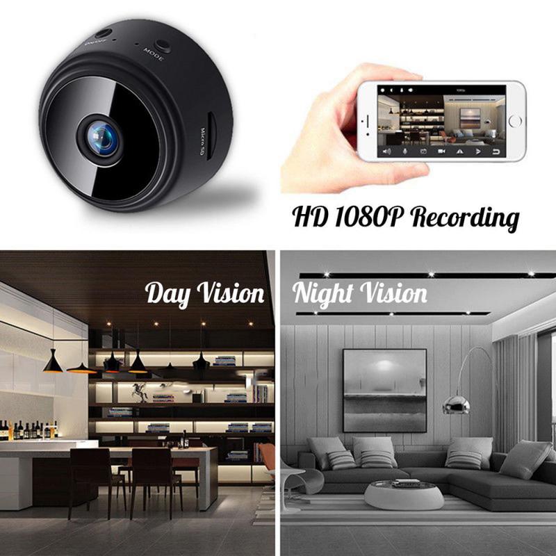 A9 1080P HD Mini IP 2.4GHz WIFI Camera Camcorder Wireless Home Security DVR Night Vision Camera V380 Pro App Remote Control