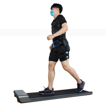 Folding Electric Treadmill EMS Suit Muscle Stimulation Device Health Care Fitness Slimming Treadmill for Home and Gym Use