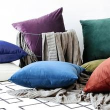 цена Home Decorative Sofa Throw Pillows Flannel cushion cover sofa cushion set solid color pillowcase cushion cover pillowcase онлайн в 2017 году