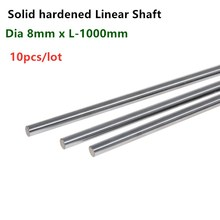 10Pcs Lineaire As Staaf Dia 8Mm X Lengte 1000Mm Cilinder Verchroomd Liner Staven As Ronde Bar SFC8x1000mm Cnc Onderdelen 3D Printer