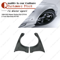 Car Accessories FRP Fiber Glass NI Z T Style Front Fender Fit For 1999 2002 R34 GTR Front Fender Flare Cover