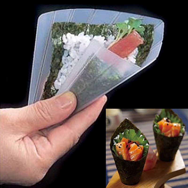 Sushi Tools Set Two Hand Roll Sushi Molds Moulds DIY Sushi Maker Onigiri Bento Rice Ball Maker With Rice Paddle Kitchen Tools image