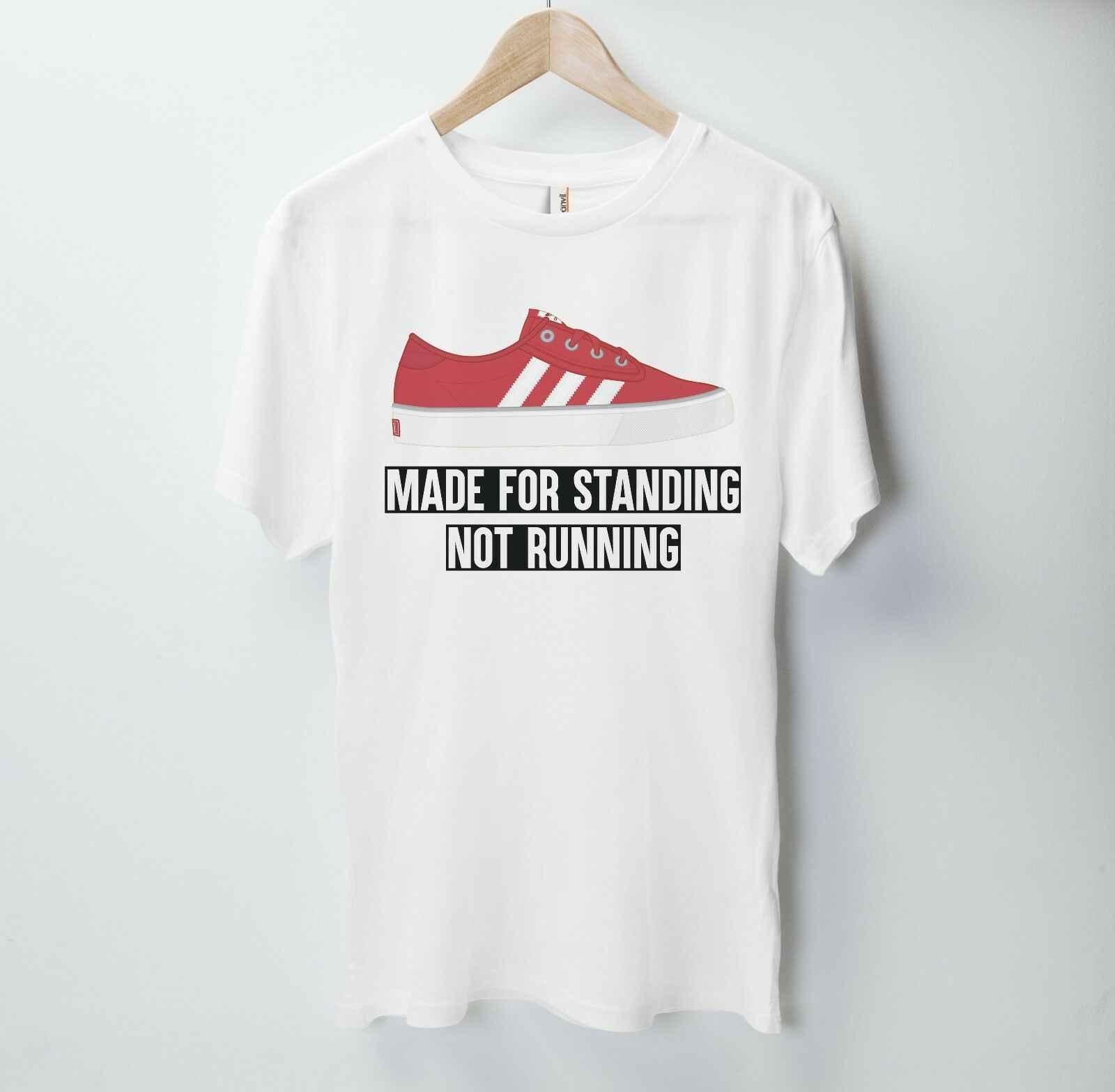 Сделано для стоя не бегущая футболка обувь Addidas кроссовки футбол хулиган топы оптом футболка на заказ Environtal печатных Tshi