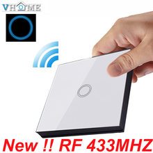 Vhome 86 Wall Panel Wireless Remote Transmitter 1 2 3 Channel Sticky RF TX Smart touch For Home Living Room Bedroom 433 MHz(China)