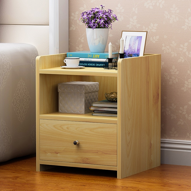 Bedside Cabinet Custom Bedroom Furniture Italian Simple Modern Solid Wood Economical Bedside Storage Cabinet