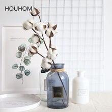 Fleurs de coton séchées naturellement, branches florales artificielles pour décoration de mariage, décoratives de maison