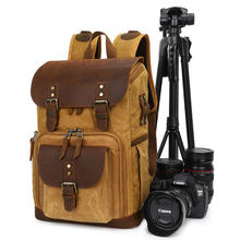 Camera-Bag Vintage Photo-Backpack Canvas Waterproof Canon/sony Batik Outdoor Wear-Resistant