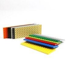 Blocs de construction MOC 6x16, pièces compatibles pour assembler des particules, plaque 3027, accessoires de Robot à faire soi-même, jouets éducatifs et créatifs, 30 pièces