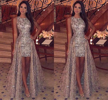 2020 autumn and winter new women's round neck sleeveless sequin dress banquet dress   party dress