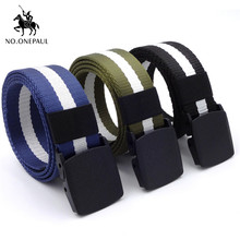 NO.ONEPAUL Unisex high quality hot male tactical belt alloy buckle outdoor mens  army training multi-function security belts