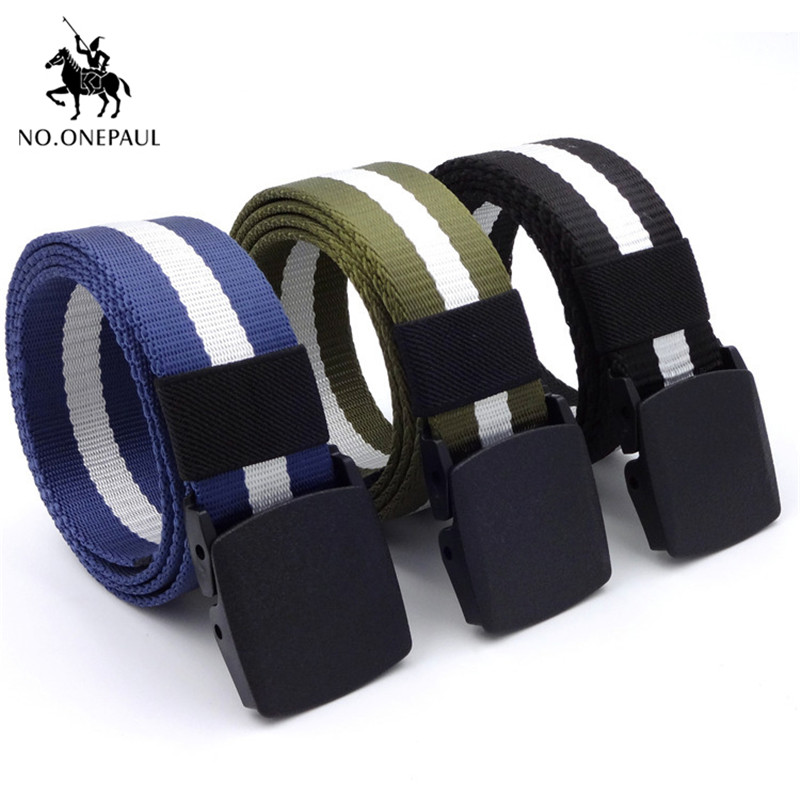 NO.ONEPAUL Unisex high quality hot male tactical   belt   alloy buckle outdoor men's army training multi-function security   belts