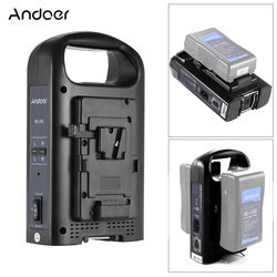 Andoer AD-2KS 2-Channel Dual Camcorder Battery Charger for V-Mount Battery for DSLR Video Camera camera accessories