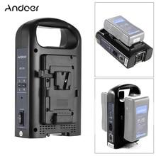 Andoer AD 2KS 2 チャンネルデュアルビデオカメラのバッテリー充電器 v マウントデジタル一眼ビデオカメラカメラアクセサリー