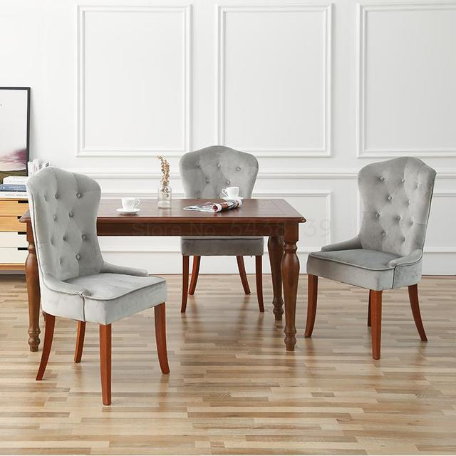 Solid Wood Cloth Dining Chair  1
