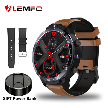 LEMFO LEM12 Smart Watch 4G 1.6 inch Full Screen OS Android 7.1 3G 32G Face ID LTE 4G Sim Camera GPS WIFI Heart Rate Android Men
