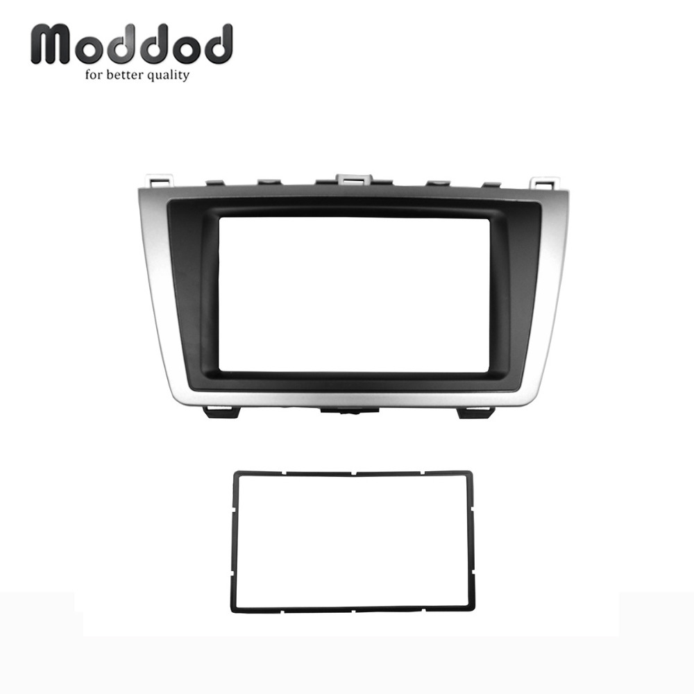 Double Din For <font><b>MAZDA</b></font> <font><b>6</b></font> Atenza 2008-2012 Fascia <font><b>Radio</b></font> CD DVD Stereo Panel Refitting In <font><b>Dash</b></font> Mount Install <font><b>Kit</b></font> Face Plate image
