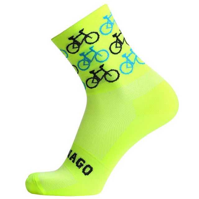 2019 qualidade marca profissional esporte pro meias de ciclismo confortável meias de bicicleta de estrada meias de corrida de montanha 2