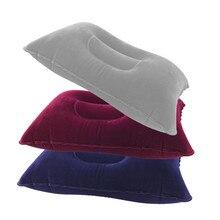 Inflatable Pillow Travel-Air-Cushion Head-Rest Plane Hotel Sleep Camp Bed Flocking Beach-Car