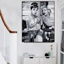 Мэрилин Монро Одри Хепбёрн фотообои тату курить женщины плакаты