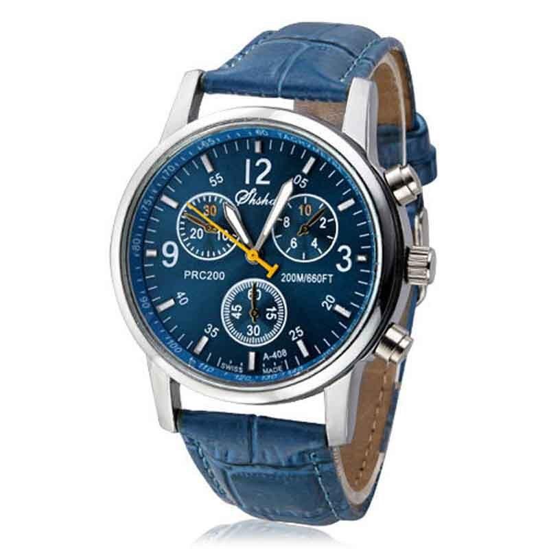 Luxury  Leather Mens Watch  beautiful Quartz  2021