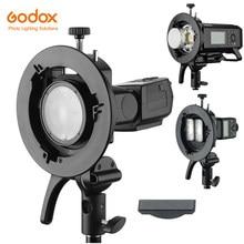 Godox S2 Bowen montaje Flash S-tipo de soporte para Godox V1 V860II AD200 AD400PRO TT600 Flash Speedlite Snoot Softbox red